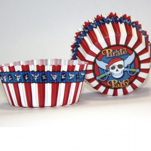 Pirate Party Cake Cases - Pack of 50-3175