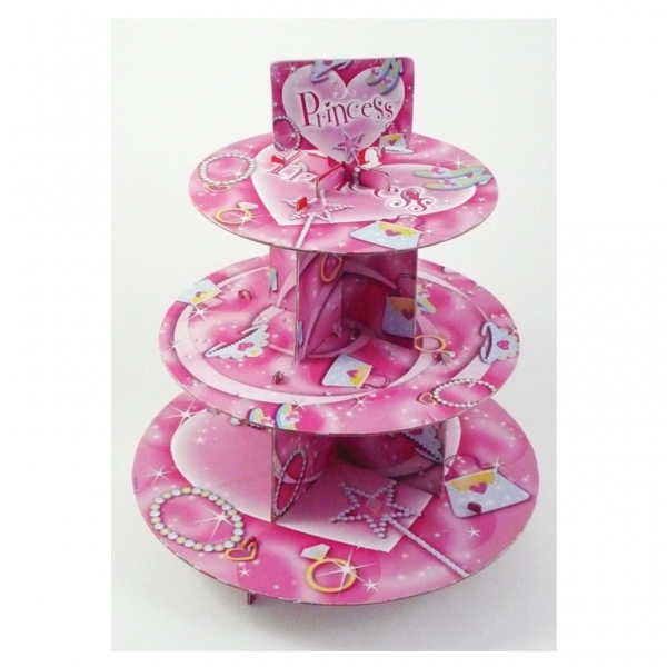 Princess 3 Tier Cupcake Stand -0