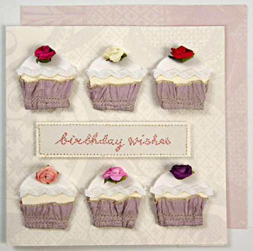 Ribbon Cupcakes Handmade Birthday Card Wedding And Party Store