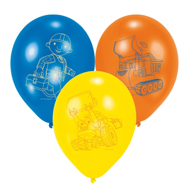 Bob the Builder All Over Print Latex Balloons 27.5cm - Pack of 6-0