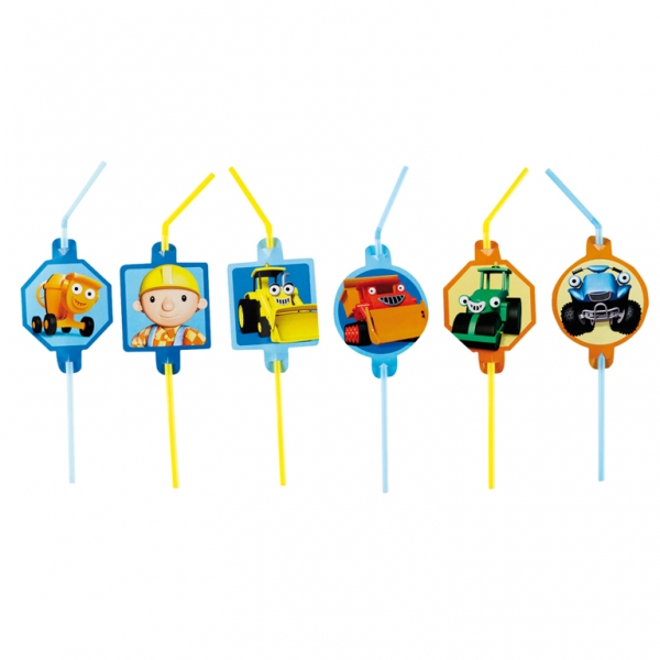 Bob the Builder Straws 24cm - Pack of 8-0