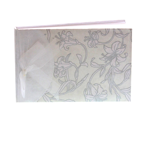 Cloth Flower Print Handmade Guest Book - Can be Personalised-0