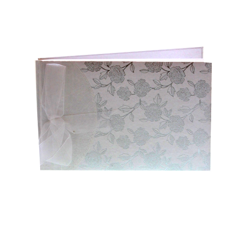 Foil Rose Print Handmade Guest Book - Can be Personalised-0