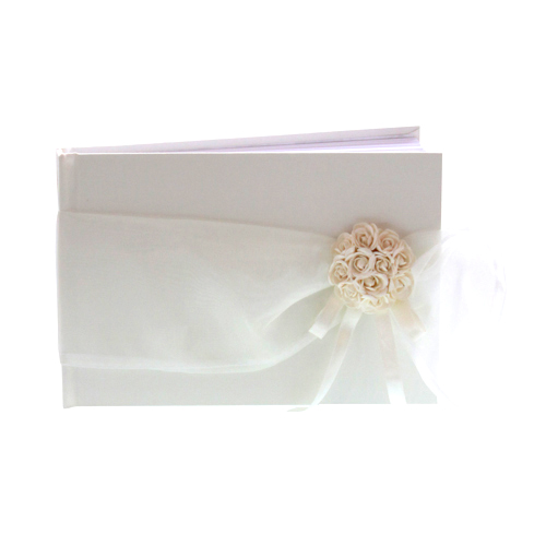 Ribbon and Posy Hand Made Guest Book - Can be Personalised-0