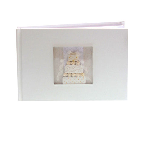 Guest Book with Inset Tiered Cake - Can be Personalised-0
