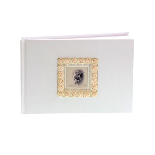 Guest Book with Antique Rose Frame - Can be Personalised-0