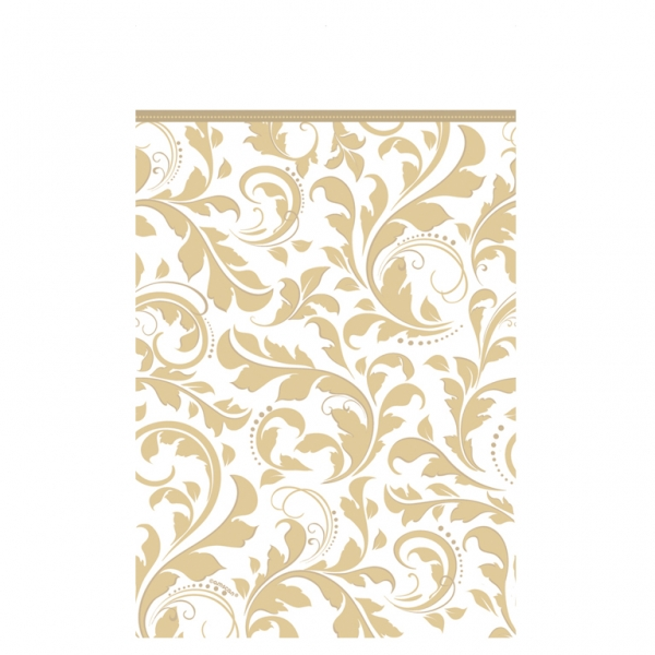Gold Elegant Scroll Paper Tablecover -0