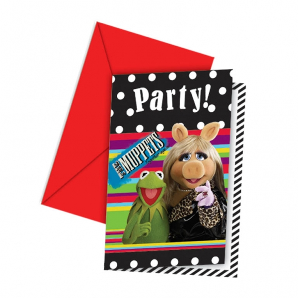 The Muppets Invitations and Envelopes - Pack of 6-0