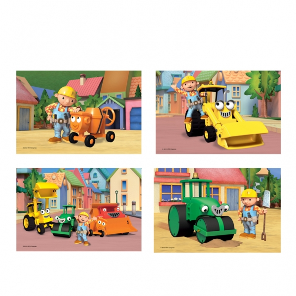 Bob the Builder Jigsaws - 18cm x 12cm - Pack of 4-0
