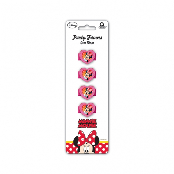 Minnie Mouse Gem Rings - Pack of 4-0