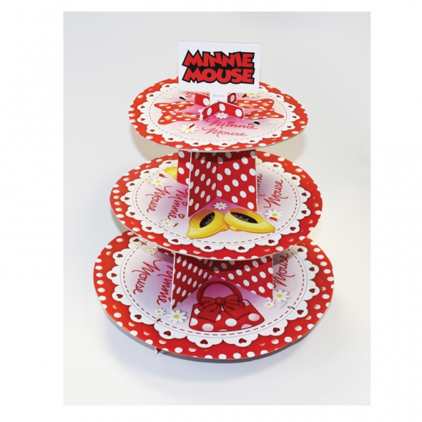 Minnie Mouse 3 Tier Cake Stand 30cm high -3477