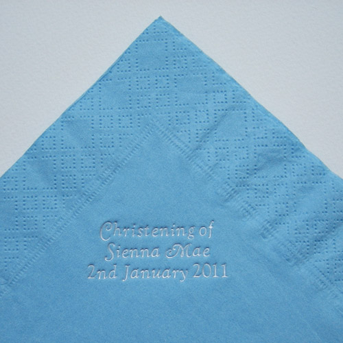 Baby Blue Personalised Paper Napkins - Pack of 25-0