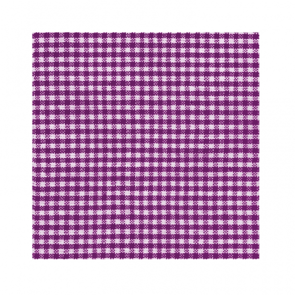 Vichy Purple Luncheon Napkins - Pack of 20-0
