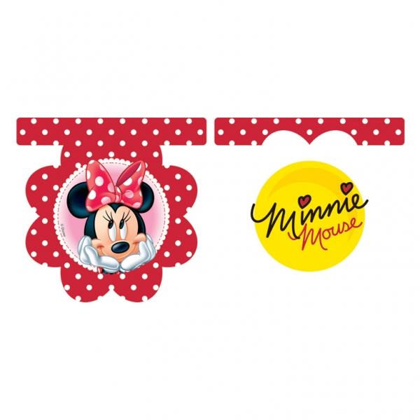 Minnie Mouse Polka Dots Die-Cut Flag Banner - 2m x 30cm -0