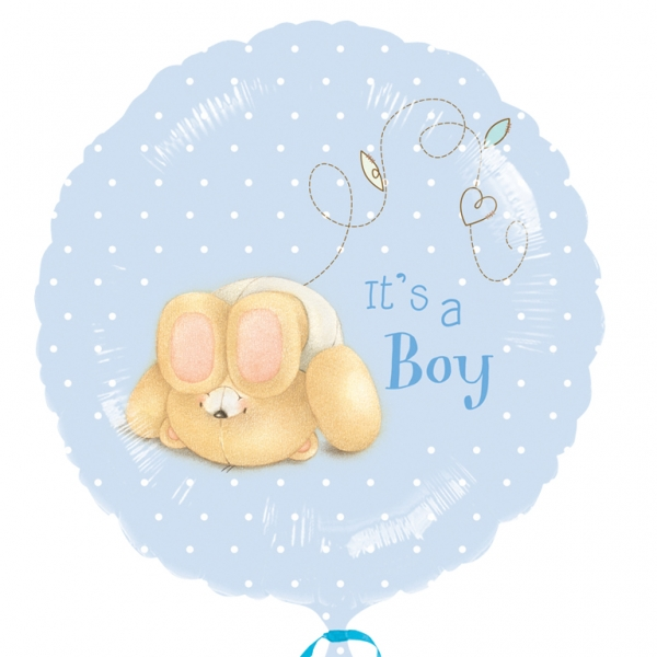"Forever Friends It's A Boy Foil Balloon - 18""/45cm -0"