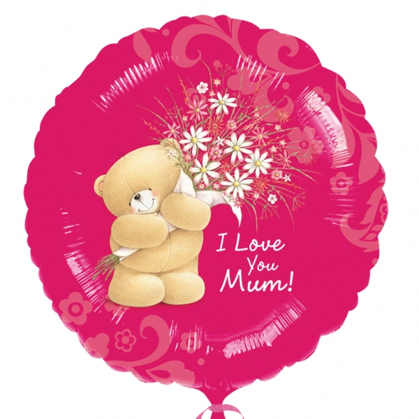 "Forever Friends I Love You Mum Foil Balloon 18""/45cm-0"