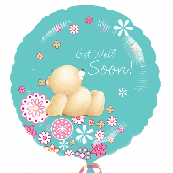 "Forever Friends Get Well Soon Foil Balloon - 18""/45cm-0"