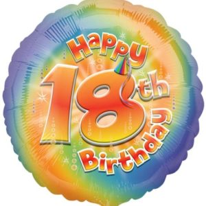 "Happy 18th Birthday Circle Foil Balloon - 17""/42cm-0"