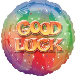 "Good Luck Circle Foil Balloon - 17""/42cm-0"