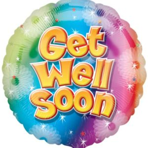 "Get Well Soon Circle Foil Balloon -17""/42cm-0"