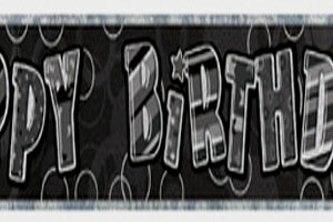 Black Glitz 12Ft Prismatic Banners - Ages 13 to 100-0