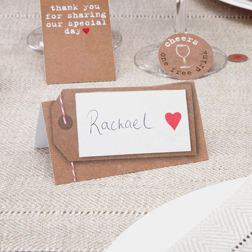 Place Cards in Rustic Brown - 50 Pack-0