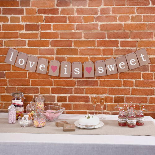 Candy Buffet Bunting in Rustic Brown-0