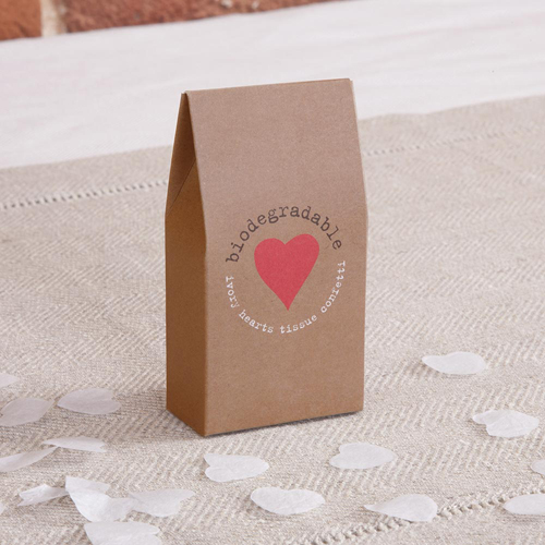 Biodegradable Throwing Confetti in Rustic Brown Box-0