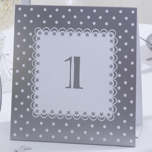 White & Silver Wedding Table Number Cards-0