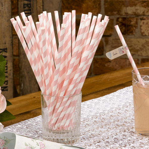 With Love Paper Straws x 25-0