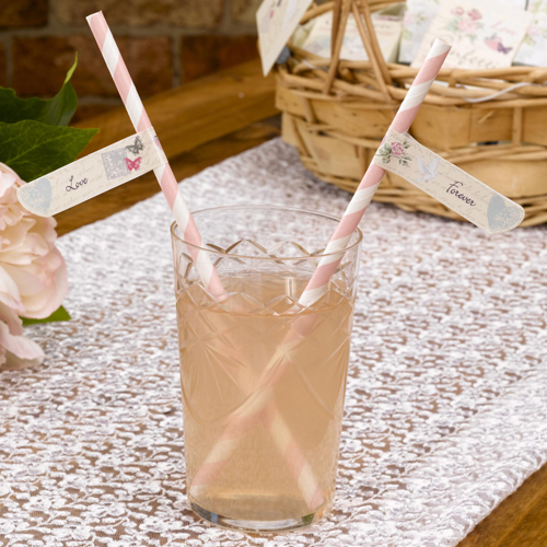 With Love Straw Flags x 30-0