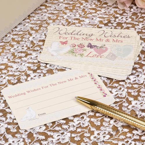 With Love Wedding Wishes Cards x 25-0