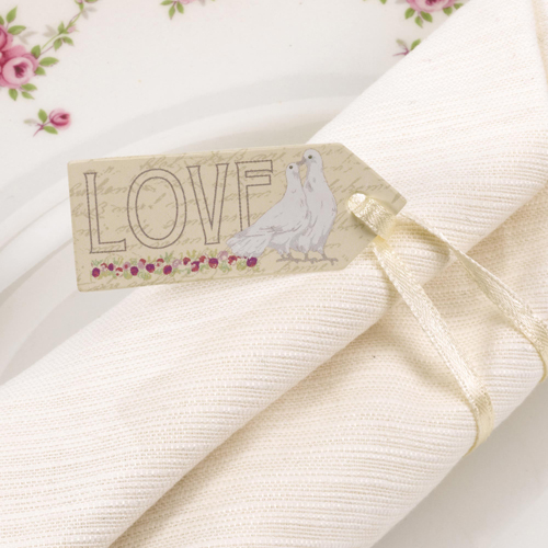 With Love Small Gift Tags x 10-0