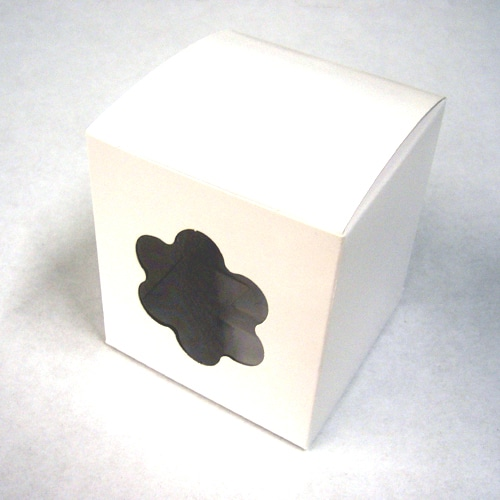 Single Cupcake Boxes with Floral window