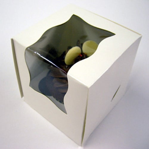 Single Cupcake Boxes with window