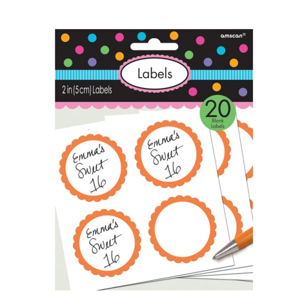 Candy Labels - Blank labels to Match our Candy Bags