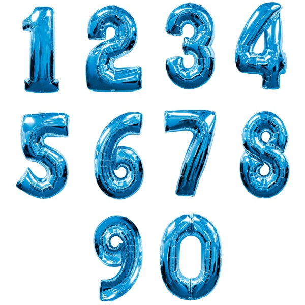 "30"" Blue Foil Number Balloons"