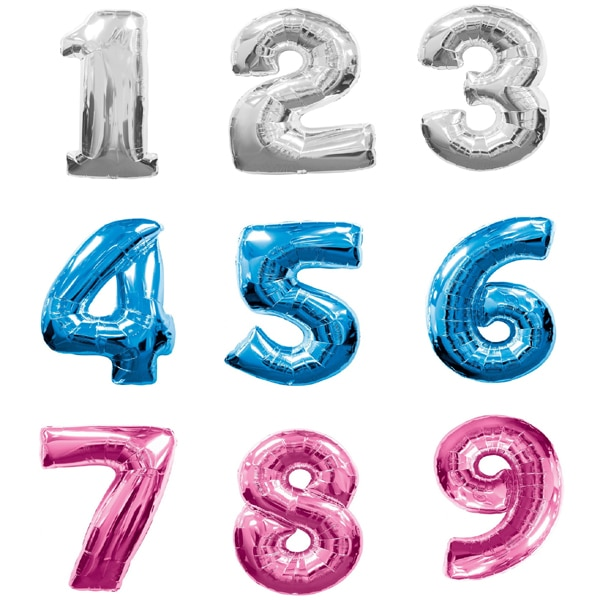 Large Foil Number Balloons