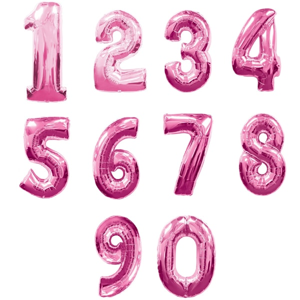 "30"" Pink Foil Number Balloons"