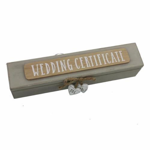 Wedding Certificate Boxes