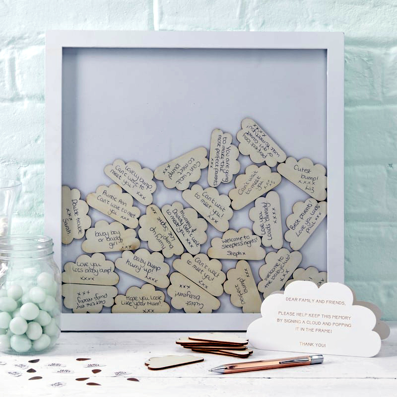 Hello World Drop Top Cloud Frame Guest Book by Ginger Ray - Wedding ...