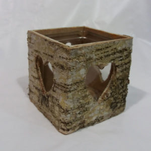 Bark Birch Candle Holders