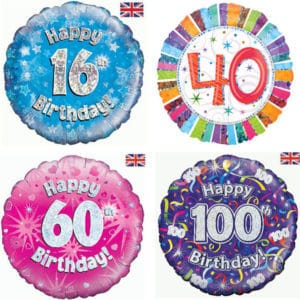 Happy Birthday Age Foil Balloons