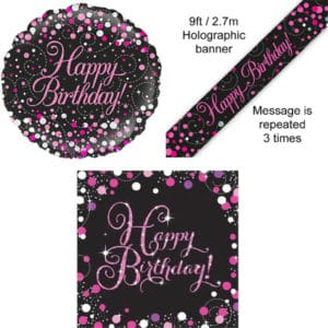 Sparkling Fizz Black and Pink