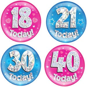 Jumbo Badges Ages 18 to 60